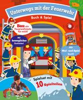Unterwegs mit der Feuerwehr - Buch und Spiel