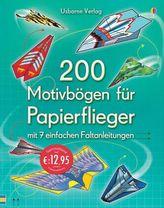 200 Motivbögen für Papierflieger