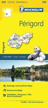 Michelin Karte Périgord. Corrèze, Dordogne