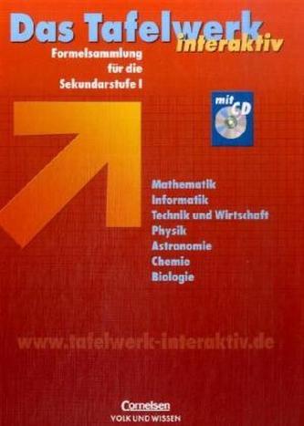 Das Tafelwerk interaktiv - Formelsammlung für die Sekundarstufe I, Östliche Bundesländer und Berlin, m. CD-ROM
