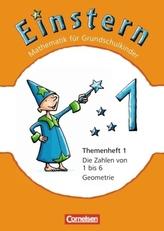 Die Zahlen von 1 bis 6 - Geometrie. Themenh.1