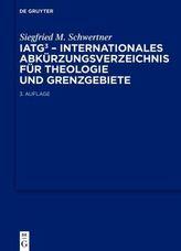 IATG, Internationales Abkürzungsverzeichnis für Theologie und Grenzgebiete