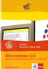 Blitzrechnen, 3./4. Schuljahr, 1 CD-ROM
