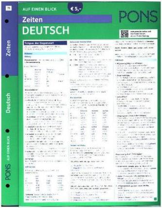 PONS Zeiten auf einen Blick Deutsch