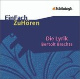 Die Lyrik Bertolt Brechts, 1 Audio-CD