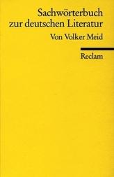 Sachwörterbuch zur deutschen Literatur