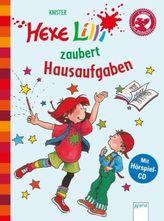 Hexe Lilli zaubert Hausaufgaben, m. Audio-CD