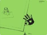 Schreibtisch-Auflage für Linkshänder, pinie-grün