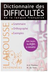 Larousse Dictionnaire des difficultés de la langue française