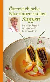 Österreichische Bäuerinnen kochen Suppen