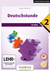 Deutschstunde, 2. Klasse NMS / HS / AHS, Übungs-CD-ROM mit Lösungen