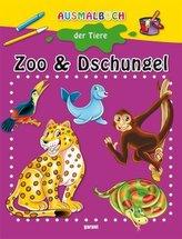 Ausmalbuch der Tiere - Zoo und Dschungel