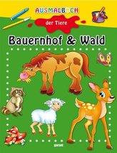 Ausmalbuch der Tiere - Bauernhof & Wald