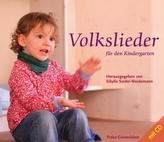 Volkslieder für den Kindergarten, m. Audio-CD