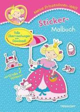 Meine Prinzessinnen-Welt: Sticker-Malbuch