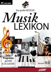 Das große Metzler Musiklexikon Version 4.0, 1 DVD-ROM