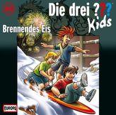 Die drei Fragezeichen-Kids - Brennendes Eis, Audio-CD