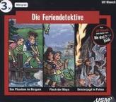 Die Feriendetektive Hörbox, 3 Audio-CDs. Box.1