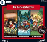 Die Feriendetektive 3-er Hörbox 2, 3 Audio-CDs. Box.2
