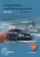 Arbeitsblätter Kraftfahrzeugtechnik interaktiv, Lernfelder 1-4, CD-ROM