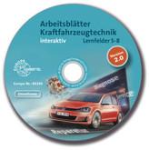 Arbeitsblätter Kraftfahrzeugtechnik interaktiv, Lernfelder 5-8, CD-ROM