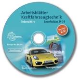 Arbeitsblätter Kraftfahrzeugtechnik interaktiv, Lernfelder 9-14, CD-ROM