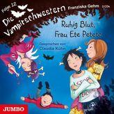 Die Vampirschwestern - Ruhig Blut, Frau Ete Petete, 2 Audio-CDs