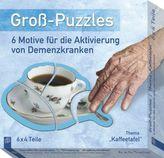Groß-Puzzles: 6 Motive für die Aktivierung von Demenzkranken, Thema 'Kaffeetafel'