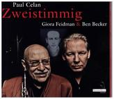 Zweistimmig - Hommage an Paul Celan, 1 Audio-CD