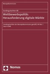 Wettbewerbspolitik: Herausforderung digitale Märkte