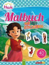 Heidi - Malbuch mit Stickern