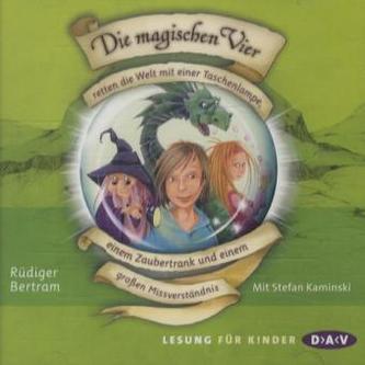 Die magischen Vier retten die Welt mit einer Taschenlampe, einem Zaubertrank und einem großen Missverständnis, 2 Audio-CDs