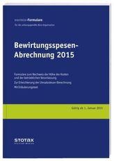 Bewirtungsspesen - Abrechnung 2015, Formularblock