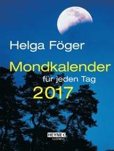 Mondkalender für jeden Tag 2017