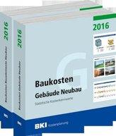 BKI Baukosten Neubau 2016, 2 Bde.. Tl.1/2