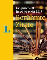 Langenscheidt Sprachkalender 2017 Berühmte Zitate