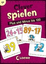 Clever spielen - Plus und Minus bis 100 (Kartenspiel)