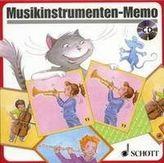 Musikinstrumenten-Memo (Kinderspiel), m. Audio-CD