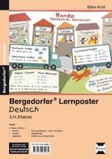 Lernposter Deutsch 3./4.Klasse, 6 Poster für den Klassenraum
