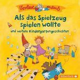 Vorlesemaus: Als das Spielzeug spielen wollte und weitere Kindergartengeschichten, 1 Audio-CD