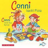 Conni backt Pizza / Conni lernt Rad fahren, 1 Audio-CD
