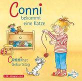 Conni bekommt eine Katze / Conni hat Geburtstag, 1 Audio-CD