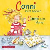 Conni lernt backen / Conni hilft Mama, 1 Audio-CD