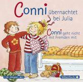 Meine Freundin Conni, Conni übernachtet bei Julia / Conni geht nicht mit Fremden mit, 1 Audio-CD