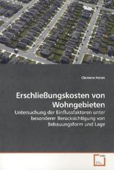 Erschließungskosten von Wohngebieten