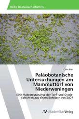 Paläobotanische Untersuchungen am Mammuttorf von Niederweningen