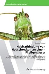 Habitatbindung von Heuschrecken an einem Fließgewässer