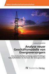 Analyse neuer Geschäftsmodelle von Energieversorgern