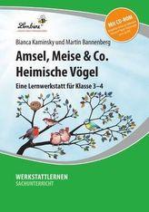 Amsel, Meise & Co: Heimische Vögel, m. CD-ROM