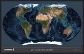 Satellitenkarte / Politische Weltkarte, Ting-kompatibel, Planokarte